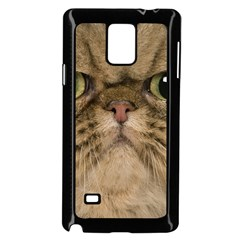 Cute Persian Cat Face In Closeup Samsung Galaxy Note 4 Case (black)