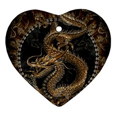 Dragon Pentagram Ornament (heart)