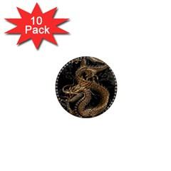 Dragon Pentagram 1  Mini Magnet (10 Pack)