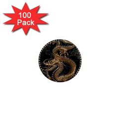 Dragon Pentagram 1  Mini Magnets (100 pack)