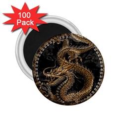 Dragon Pentagram 2 25  Magnets (100 Pack)