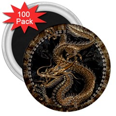 Dragon Pentagram 3  Magnets (100 Pack)