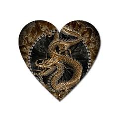 Dragon Pentagram Heart Magnet