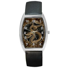 Dragon Pentagram Barrel Style Metal Watch