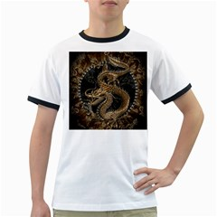 Dragon Pentagram Ringer T Shirts
