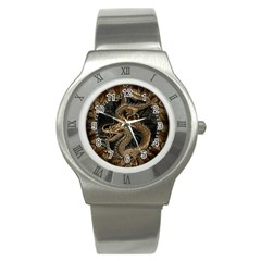 Dragon Pentagram Stainless Steel Watch