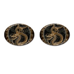 Dragon Pentagram Cufflinks (Oval)
