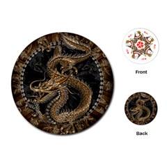 Dragon Pentagram Playing Cards (Round)