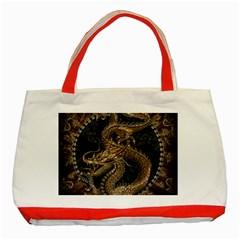 Dragon Pentagram Classic Tote Bag (red)