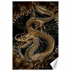 Dragon Pentagram Canvas 24  X 36