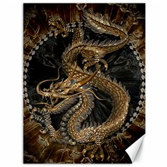 Dragon Pentagram Canvas 36  x 48