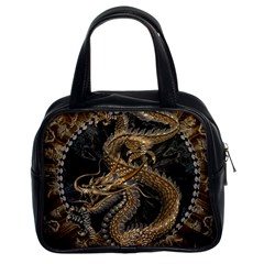 Dragon Pentagram Classic Handbags (2 Sides)
