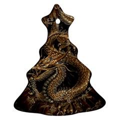 Dragon Pentagram Christmas Tree Ornament (two Sides)