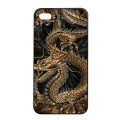 Dragon Pentagram Apple iPhone 4/4s Seamless Case (Black)