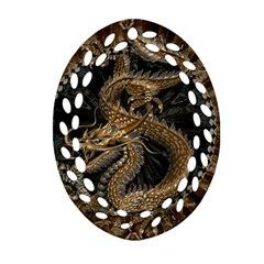 Dragon Pentagram Ornament (Oval Filigree)