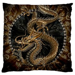Dragon Pentagram Large Cushion Case (two Sides)