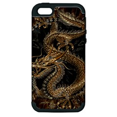 Dragon Pentagram Apple Iphone 5 Hardshell Case (pc+silicone)