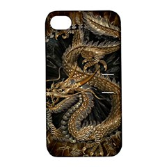Dragon Pentagram Apple iPhone 4/4S Hardshell Case with Stand