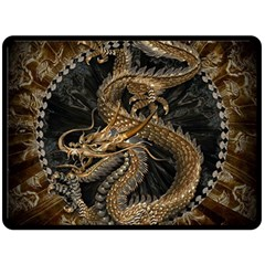 Dragon Pentagram Double Sided Fleece Blanket (Large)