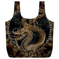 Dragon Pentagram Full Print Recycle Bags (l)