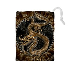 Dragon Pentagram Drawstring Pouches (large)