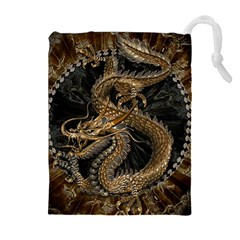 Dragon Pentagram Drawstring Pouches (Extra Large)