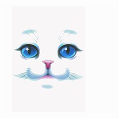Cute White Cat Blue Eyes Face Large Garden Flag (Two Sides)