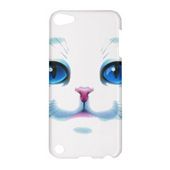 Cute White Cat Blue Eyes Face Apple Ipod Touch 5 Hardshell Case
