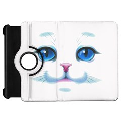Cute White Cat Blue Eyes Face Kindle Fire Hd 7