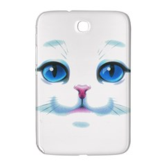 Cute White Cat Blue Eyes Face Samsung Galaxy Note 8 0 N5100 Hardshell Case
