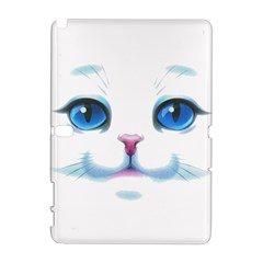 Cute White Cat Blue Eyes Face Galaxy Note 1