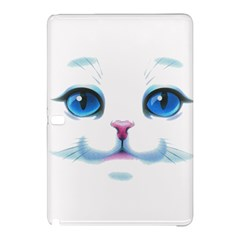 Cute White Cat Blue Eyes Face Samsung Galaxy Tab Pro 10.1 Hardshell Case