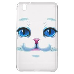 Cute White Cat Blue Eyes Face Samsung Galaxy Tab Pro 8 4 Hardshell Case