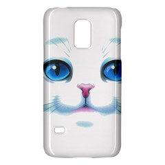 Cute White Cat Blue Eyes Face Galaxy S5 Mini