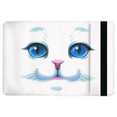 Cute White Cat Blue Eyes Face Ipad Air 2 Flip