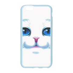 Cute White Cat Blue Eyes Face Apple Seamless iPhone 6/6S Case (Color)