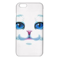 Cute White Cat Blue Eyes Face Iphone 6 Plus/6s Plus Tpu Case