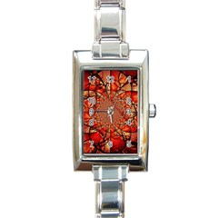 Dreamcatcher Stained Glass Rectangle Italian Charm Watch