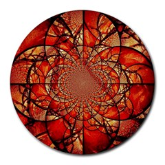 Dreamcatcher Stained Glass Round Mousepads