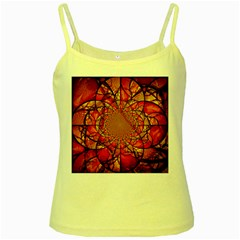 Dreamcatcher Stained Glass Yellow Spaghetti Tank