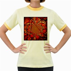 Dreamcatcher Stained Glass Women s Fitted Ringer T-Shirts