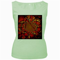 Dreamcatcher Stained Glass Women s Green Tank Top