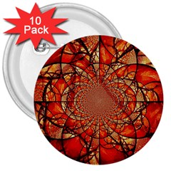 Dreamcatcher Stained Glass 3  Buttons (10 Pack)