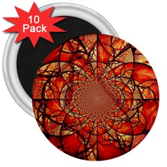 Dreamcatcher Stained Glass 3  Magnets (10 Pack)