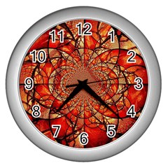 Dreamcatcher Stained Glass Wall Clocks (Silver)