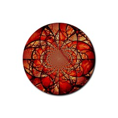 Dreamcatcher Stained Glass Rubber Round Coaster (4 Pack)