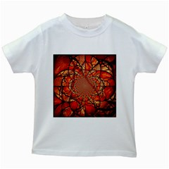 Dreamcatcher Stained Glass Kids White T-Shirts
