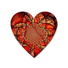 Dreamcatcher Stained Glass Heart Magnet