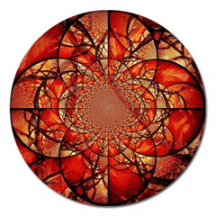 Dreamcatcher Stained Glass Magnet 5  (round)
