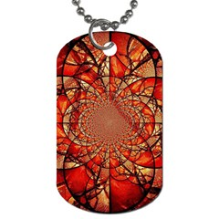 Dreamcatcher Stained Glass Dog Tag (One Side)